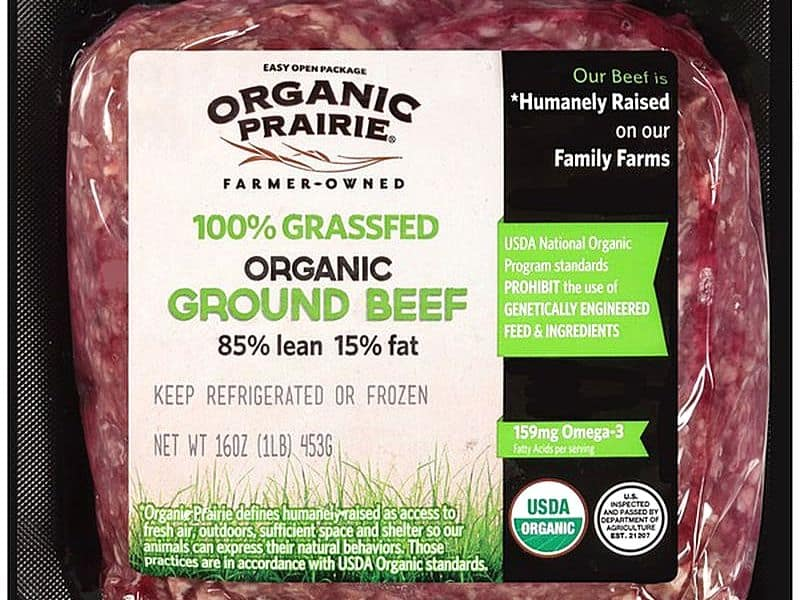 grass-fed organic ground beef